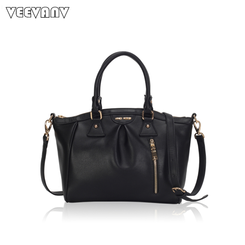 VEEVANV Fashion Designer Women Handbags Office Lady Tote Handbag Famous Brand Messenger Bags Crossbody Bags Leather Shoulder Bag jasmin noir famous brand women messenger bag high quanlity fashion crossbody bag designer handbag smiley women s shoulder bags