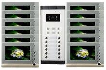 Alta definición por cable Video de la puerta sistema de intercomunicación del teléfono para multiplicar capa apartamento una cámara de 12 monitores