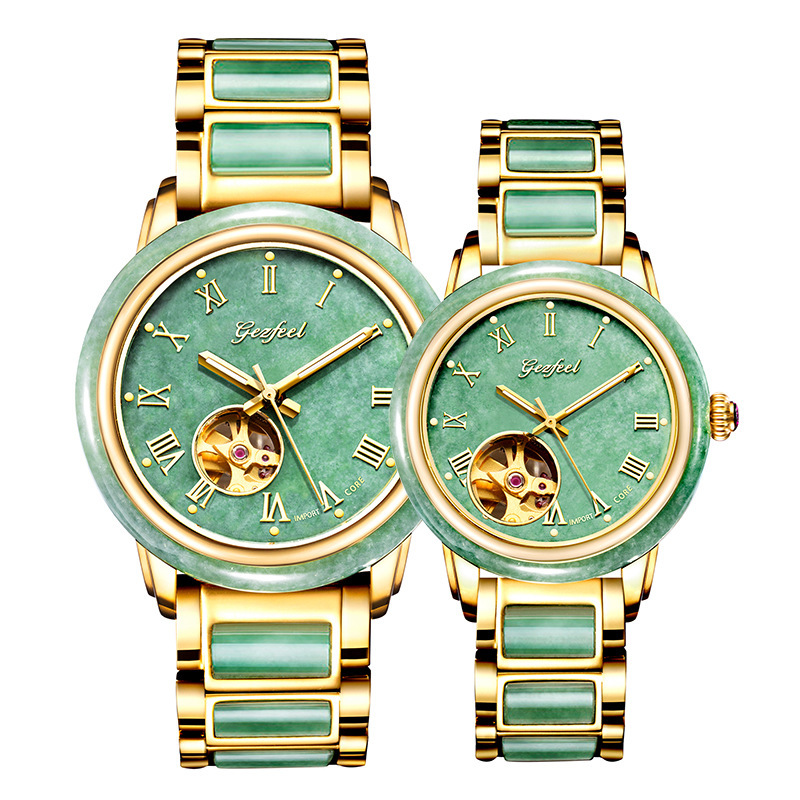 2020 Selling Hot Sale Spot Jadeite Watches Couple Automatic Mechanical Waterproof Strip Factory One Substitute
