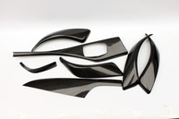 FOR BMW 1 Series F20 F21 Interier Dash Trim Cover LHD 7PCS Low Model Glossy Carbon Fiber Car Styling Car Accessories