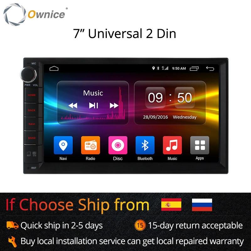 Ownice C500 Android 6.0 Octa Core 2 din Universel Pour Nissan GPS Navi BT Radio Stéréo lecteur audio (No DVD) construire-dans 4G Moudule