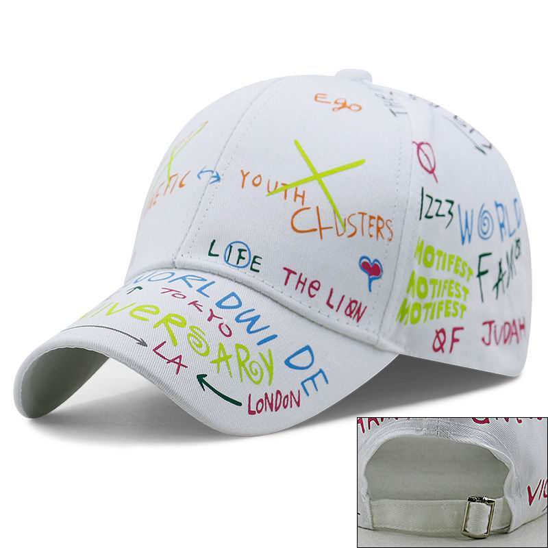 Kagenmo Baseball-Cap Sports-Cap Graffiti Adjustable Cotton Summer Big-Head Thin