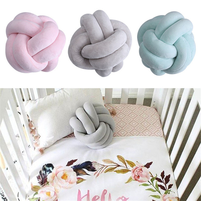 Handmade 18cm Cotton Knot Pillow Soft Knotted Ball Cushions Sofa