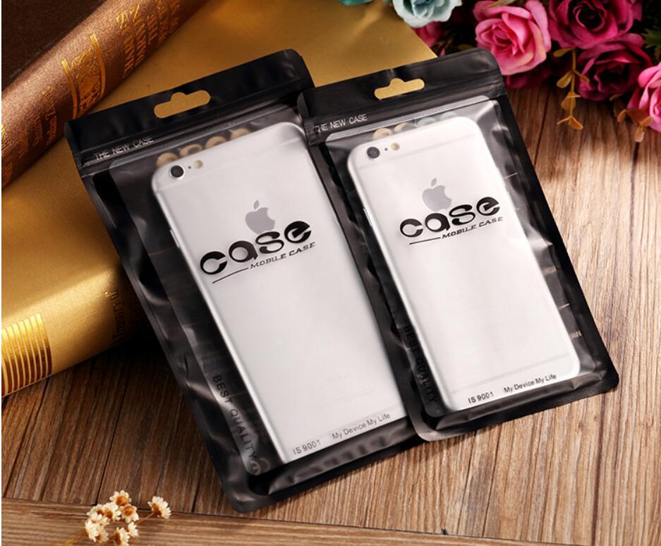 1000pcs 10 18cm Dustproof Waterproof Mobile Phone Shell Event Zipper Packaging Pouch Resealable self seal zip