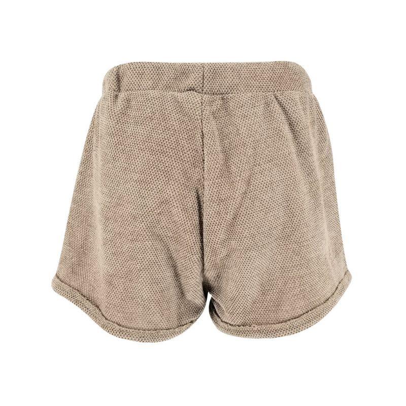 Женские 2019 летние пляжные шорты для активного отдыха эластичные однотонные свободные шорты с высокой талией на шнуровке - 2