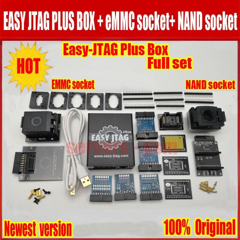 Nova versão conjunto Completo caixa de caixa Fácil-Jtag Jtag Fácil plus plus + tomada + NAND EMMC soquete
