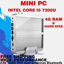 7e Поколения Intel Core i5 7200U Компьютер Win10 Mini PC Макс 3.1 ГГц Без Кну HTPC Intel HD Graphics 620 Windows 10, Linux 4 ГБ Памяти
