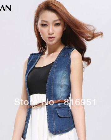 sleeveless jean jackets for women jean jacket women vest jean vest ...