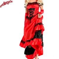 Flamenko Fransız dans kostüm ve İspanya kadınlar için cancan dans kostüm sahne dans cancan dans kostüm