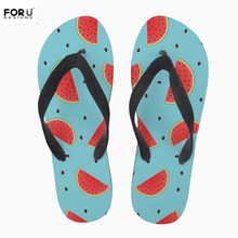 46631629e27d FORUDESIGNS Hot Fashion Girls Summer Beach Water Flip Flops Fruits  Watermelon Banana Coconut Print Rubber Slippers