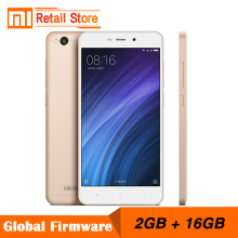 "Original Xiaomi Redmi 4A 2GB RAM 16GB ROM 5.0"" Snapdragon 425 Quad Core Mobile Phone 3120mAh Battery 13.0 MP Camera Smartphone"