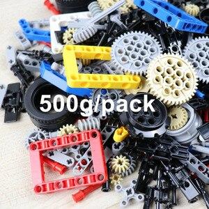 Image 1 - 500g בתפזורת טכני חלקי כדי ליצור אישי MOC כולל שונה חילוף חתיכות צעצועי תואם בניין בלוקים בני מתנת יום הולדת