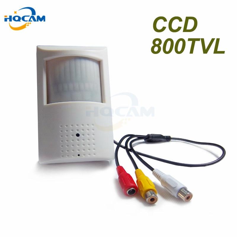 HQCAM Sony CCD 800TVL Security Indoor CCTV Mini PIR Style Camera pir mini camera pir 48pcs IR 940nm Built-in IR Cut Night vision