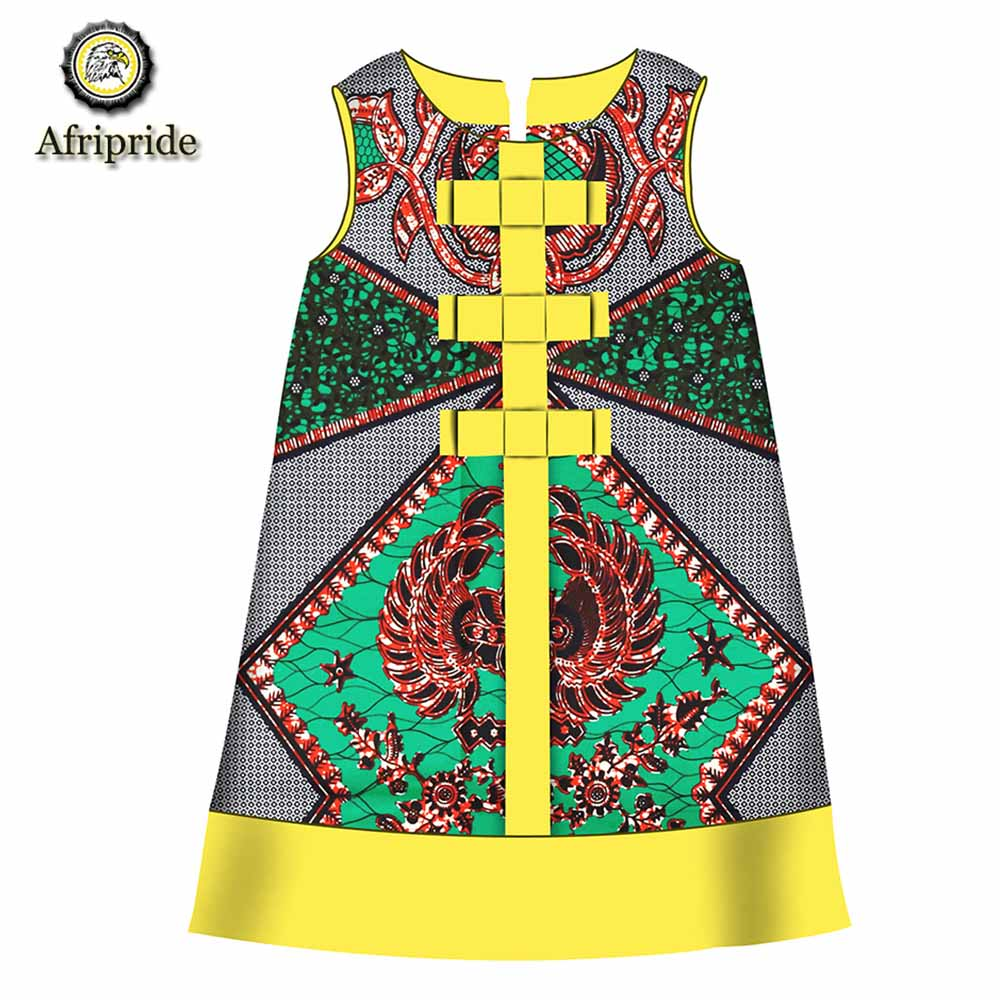 2018 2019 African kids dress Children clothing 100 cotton wax ankara print fabric dashiki bazin riche AFRIPRIDE S1845009 in Africa Clothing from Novelty Special Use
