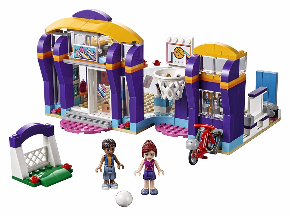 LEPIN Friends Series Heartlake Sports Centre Building Blocks Classic For Girl Kids Model Toys Marvel Compatible Legoe lepin city town city square building blocks sets bricks kids model kids toys for children marvel compatible legoe