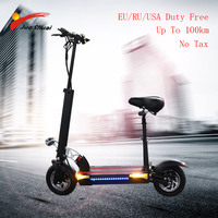 Long distance 100km Electric Scooter 10 48V500W Motor Wheel 26AH Battery Adult kick e scooter folding patinete electrico adulto