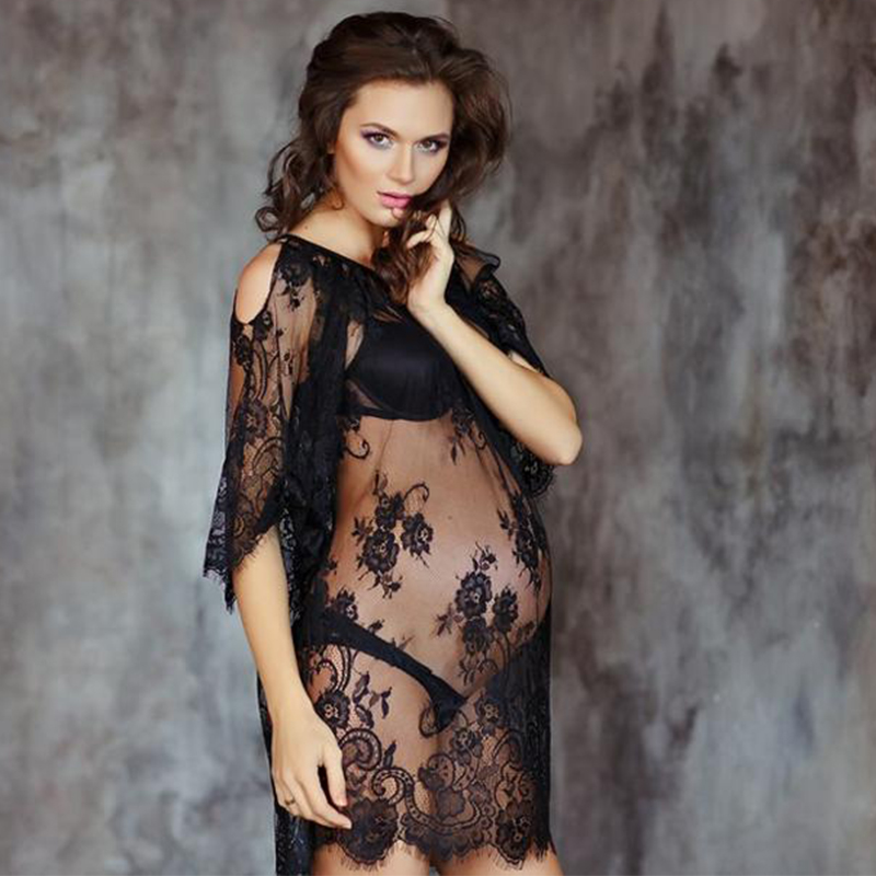 Maternity dresses for photo shoot maternity photography props lace pregnancy dress off shoulders sexy gown for pregnant women