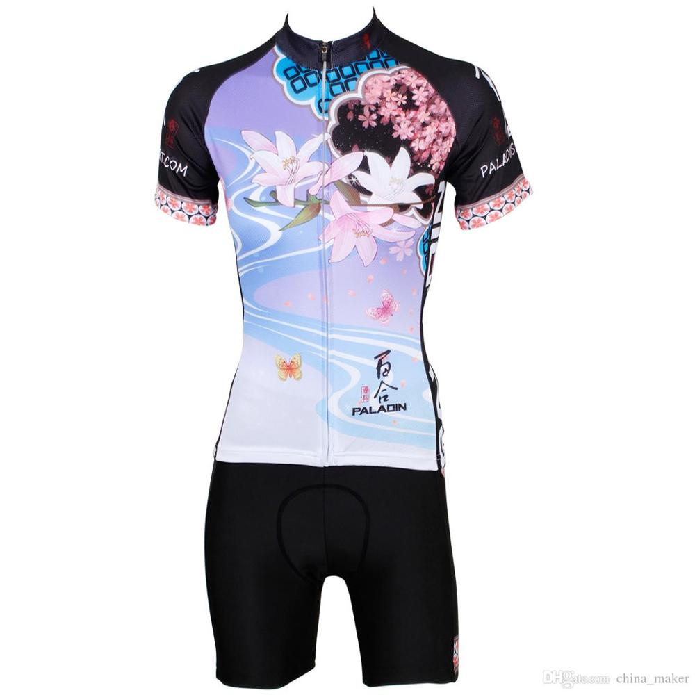 Brand New 176 Hot cycling jerseys Flowers Female Summer Cycling Jersey 2017s Anti UV Ladies adequate quality Sleeve Cycle Jersey 176 top quality hot cycling jerseys red lotus summer cycling jersey 2017s anti uv female adequate quality sleeve cycling clothin