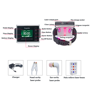 high quality bio laser physical therapy cold soft laser watch and nasal clip