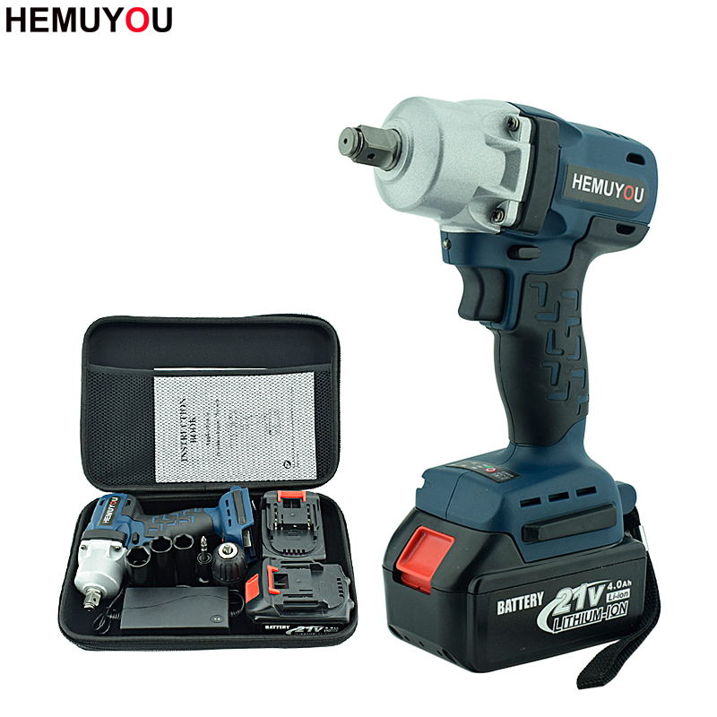 Cordless Electric Wrench Brushless Impact Socket Wrench Lithium Battery Hand Drill Power Tools Industrial Grade Electric