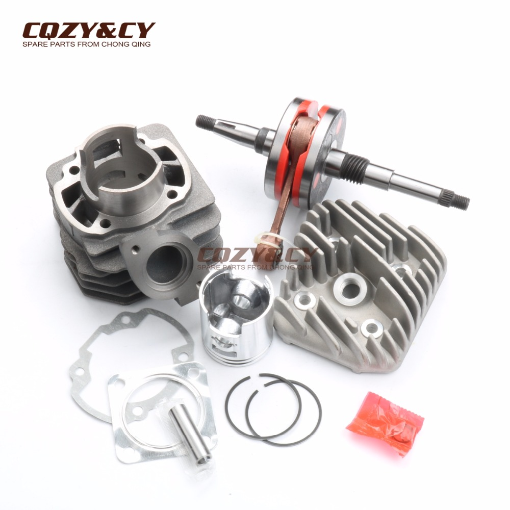 70cc Big Bore Cylinder Kit & Cylinder Head Cap & High quality crankshaft for HONDA DIO AF18 50cc 47mm 2T