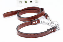 Кожаная Тяговая веревка большая цепочка для собак средних и