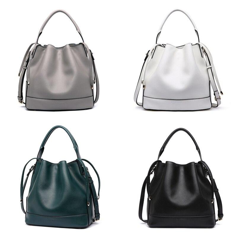LY. Rekina marka luksusowe torebki damskie torby projektant Crossbody torby dla kobiet Messenger torby torba z prawdziwej skóry torba na ramię wiadro w Torebki na ramię od Bagaże i torby na  Grupa 2