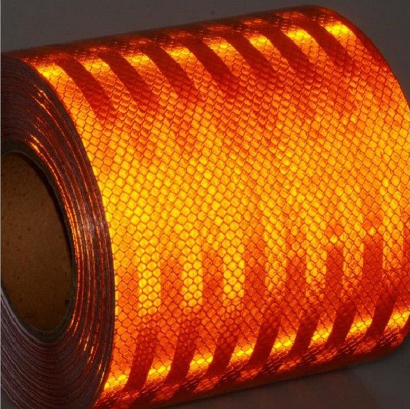 15CM*45M Super Grade PET Self-adhesive Orange Road Traffic Reflective Tape Van Tanker Bus Reflective Safety Warning Tape цена 2017