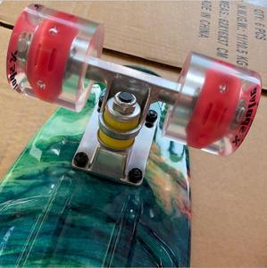 Image 2 - 22 インチロングスケートボードパターンスケートボードペニーボード Patins シングルロッカーで Loadbearing ホイール