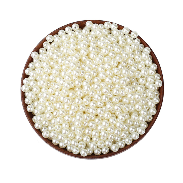 2000Pcs Rice Round Pearl Beads Various Sizes For Jewellery Marking Loose Spacer Beads Bracelet Necklace Charm Jewelry Finding