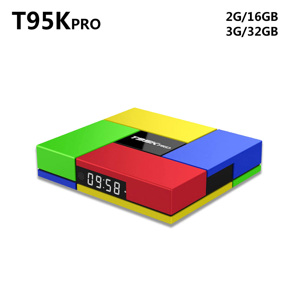 Amlogic S912 Andorid 6.0 TV BOX T95K PRO Octa Core 2G/3G 16GB/16GB Dual WiFi BT4.0 4K H.265 VP9 HDR 3D Smart set