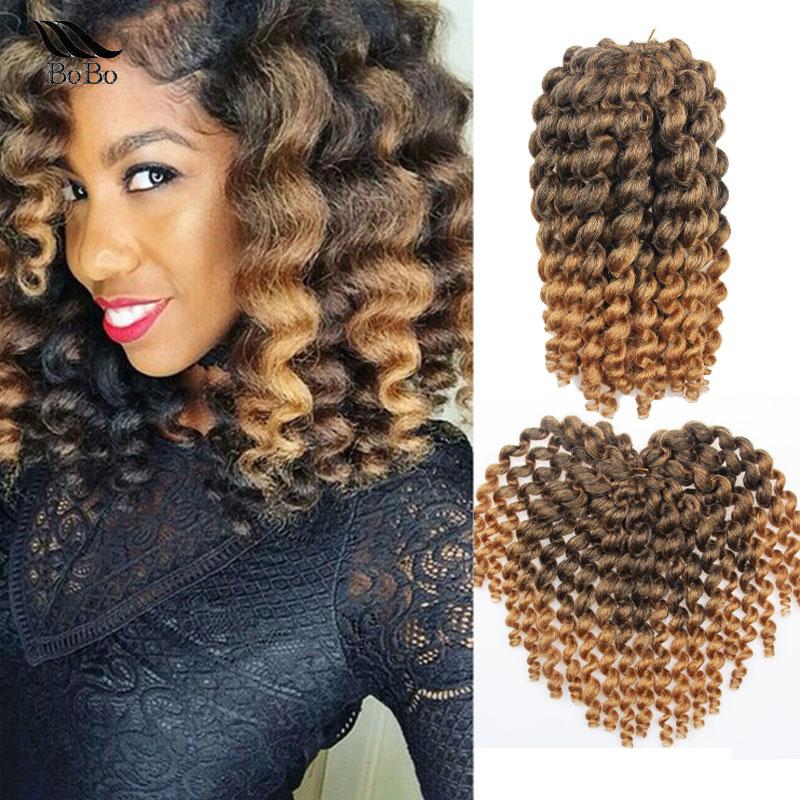 10inch Wand Curly Crochet Braids Hair Jamaican Bounce