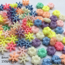 Meideheng Candy Color windmill Six flap plum blossom Beads For Jewelry Making Needlework Bracelet Accessories 8mm 150pcs/bag