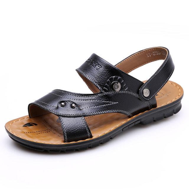 Spring Autumn Designer Shoes For Men Light Sense Male Sandals Genuine Leather  Beach Flip Flops Zapatos Para Hombre Casual Shoes