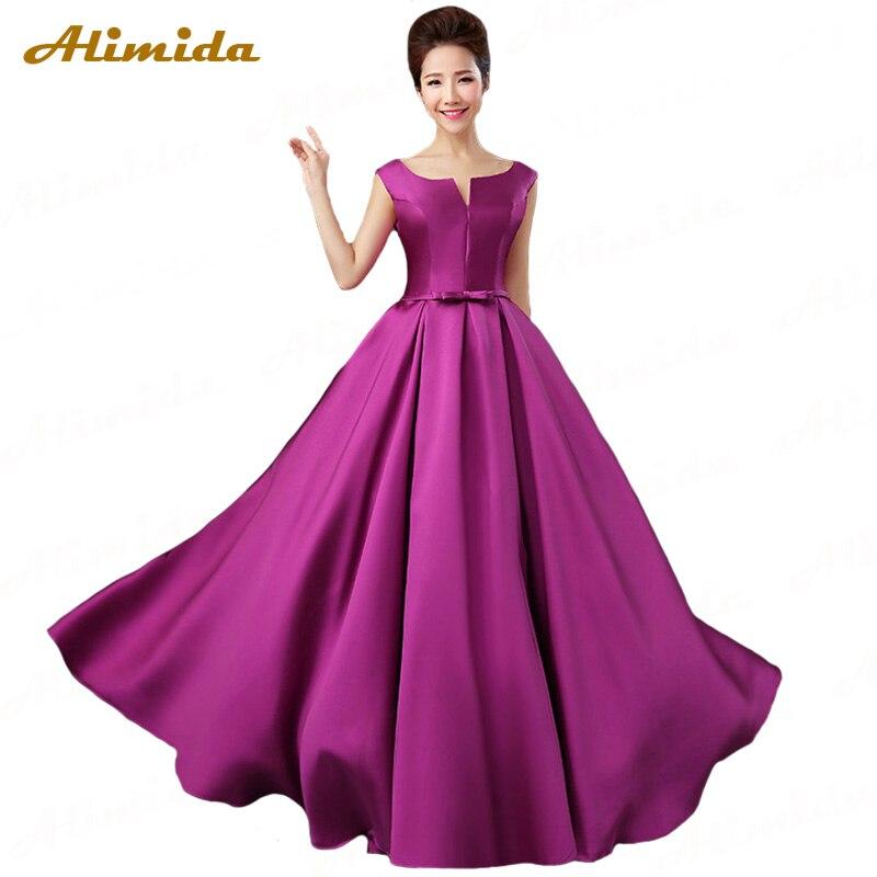 ALIMIDA Robe De Soiree 2018 элегантные вечерние платья пол длинный v-образный вырез сзади корсет Формальное вечернее платье А-силуэт vestidos de festa