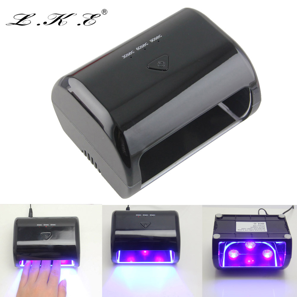 Portable LKE 9W 12V LED UV Nail Lamp Gel Curing Nail Dryer lamp for Nails Art