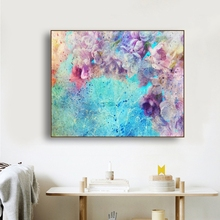 Laeacco Watercolor Flowers Posters Prints Canvas Painting Living Room Bedroom Bedside Picture Unique Gift Printed For Home Decor