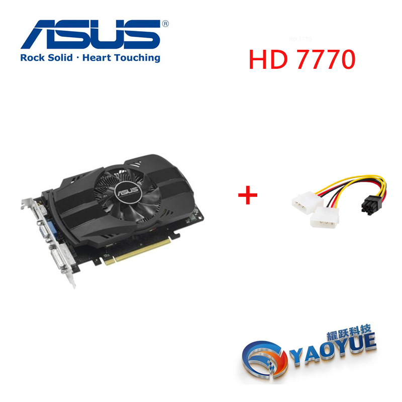 Asus HD7770-FMLII-1GD5 HD 7770 1G D5 GDDR5 128 Bit PC Desktop Graphics video Cards PCI Express 3.0computer Graphics Cards GTX750
