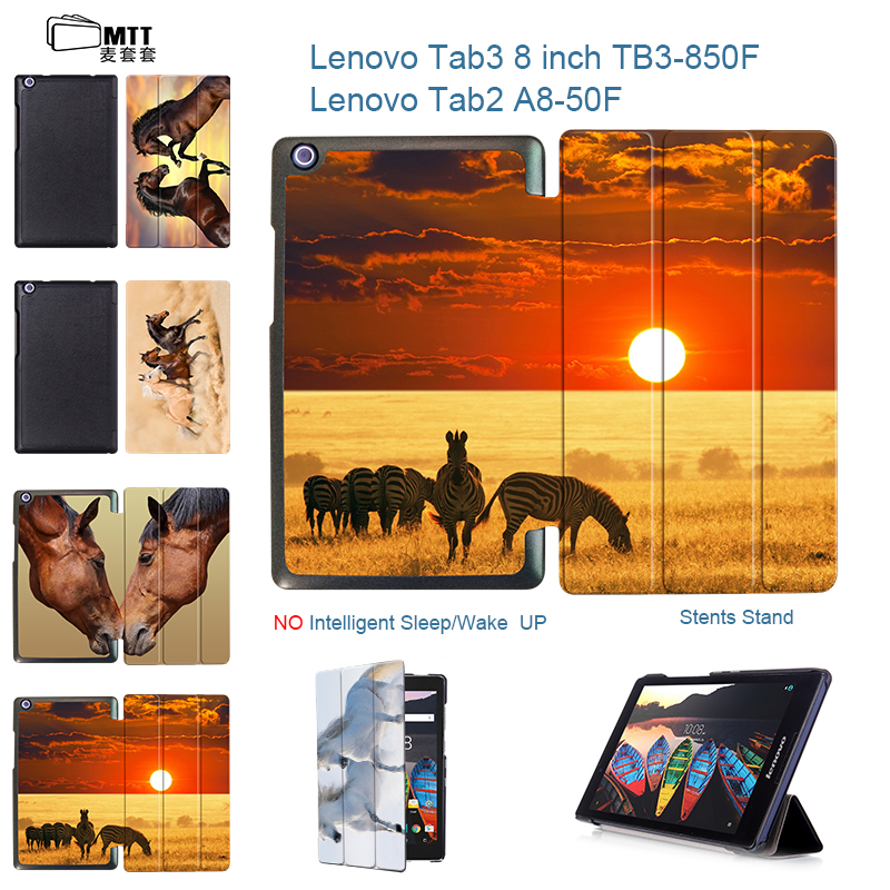 MTT Folio stand cover Horses case for 2016 New Tab3 8 inch Tablet TB3-850M Case Flip Cover For Lenovo Tab 3 8 Tab 2 A8-50F case emotional healing for horses