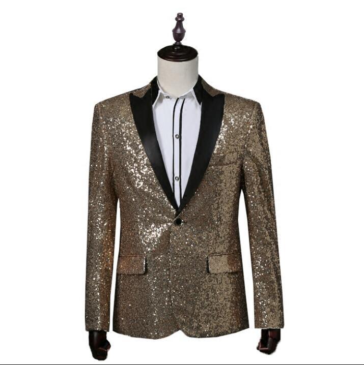 ασημένιο παλτό σακάκι blazer χορεύτρια - Ανδρικός ρουχισμός - Φωτογραφία 3