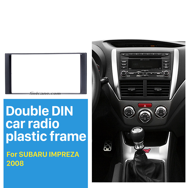 Car Dash Radio Fascia Double 2 Din Panneau pour Subaru Forester Impreza XV