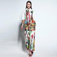 S-XXXXL High Quality Boho Hippie Temperament Retro Holiday Leisure Long Sleeved Beach Women Dress 2018 The New Summer Maxi
