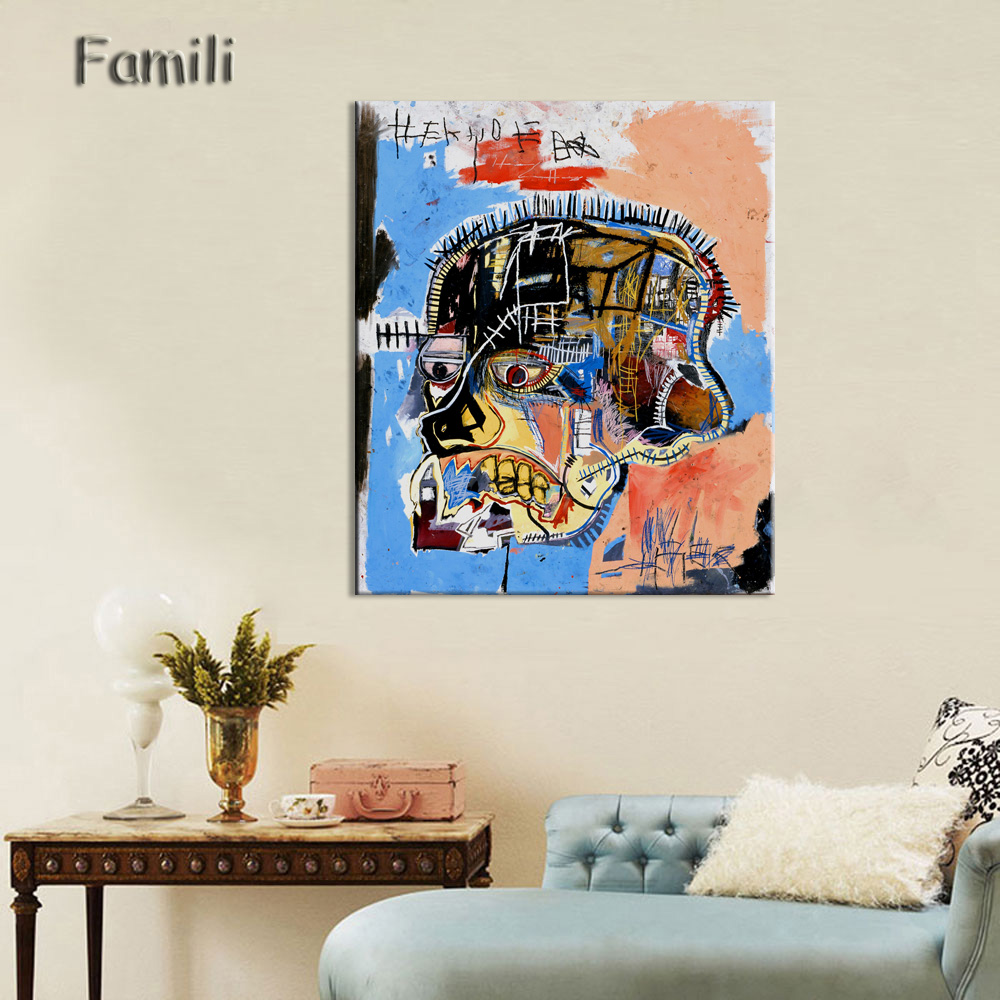 Jean Michel Basquiat Figure Painting Abstract Spray