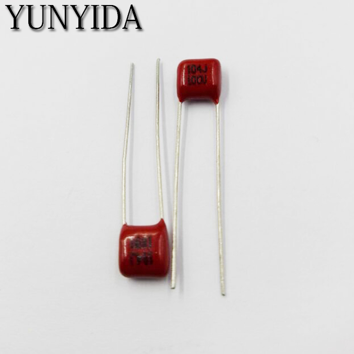 Free Shipping 10pcs, CBB 104J 100V  0.1UF 100NF  P5mm  Metallized Film Capacitor  104  100v