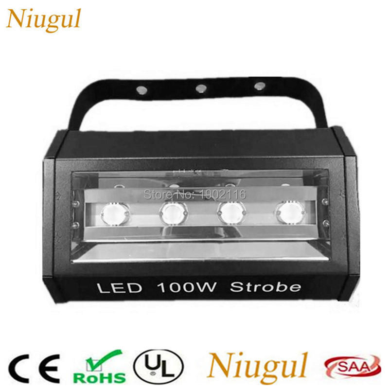 Niugul 4 LED Strobe Light ,KTV Flash 100W Strong Strobe Stage Light Bar Nightclub Disco Party 100W LED Flash DMX Stage Lighting 100w led strobe lights dmx sound control 100w white lighting disco party dj home music show projector stage light led flash lamp