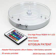 Factory Direct Deal Super Bright High Power Changeable RGBW LED Light Base For Wedding Event Table