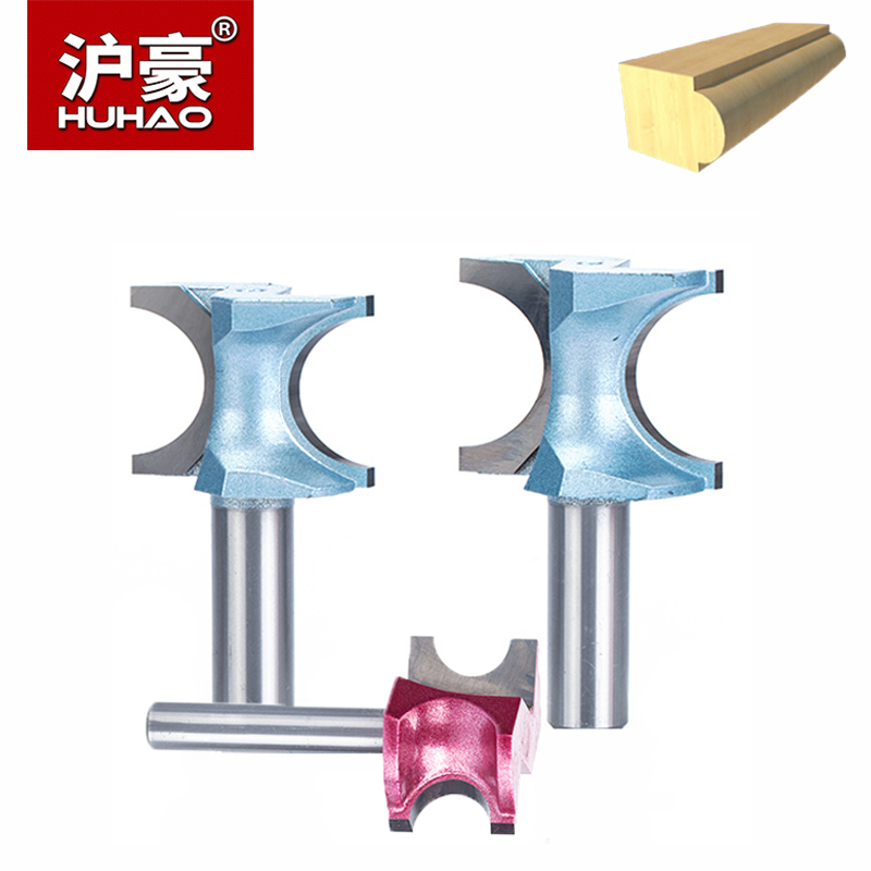 HUHAO 1pc 1/21/4 Shank Half Round Bit For Wood End Mill Woodworking Tool Router Bits Industrial Grade Milling Cutter huhao 1pc 1 2 1 4 inch t type bearings wood milling cutter industrial grade rabbeting bit woodworking tool router bits for wood
