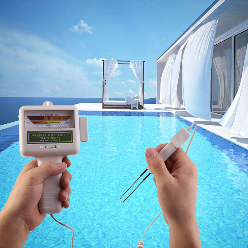 Ph Chlorine Level Meter Portable Water Quality Tester Plastic Swimming Pool Spa Water Detector