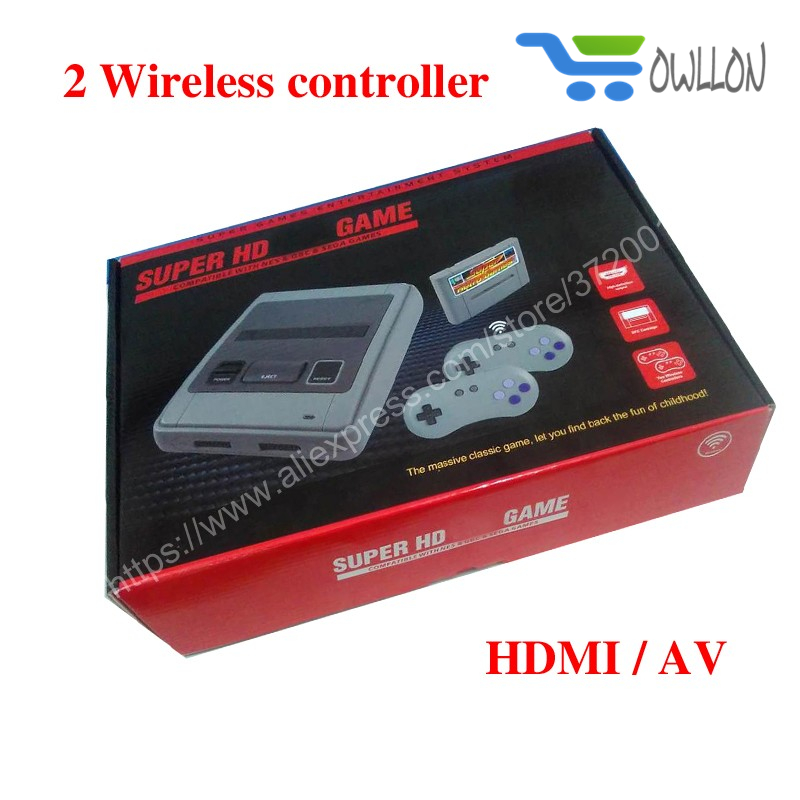 DHL SUPER HD GAME Wireless HDMI/AV MINI Retro Classic handheld game player Family TV game console Childhood Built-in 518 Games
