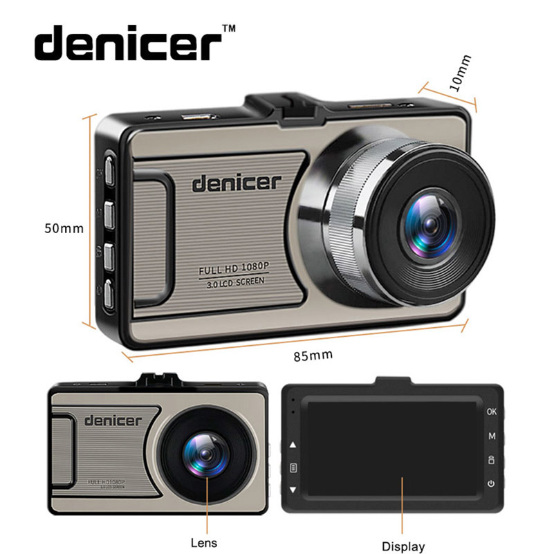Denicer Dash camera Novatek 96655 Car Camera Full HD 1080P DVR 170 Degree Wide Angle 6G lens Car Vehicle Video Recorder Dash Cam